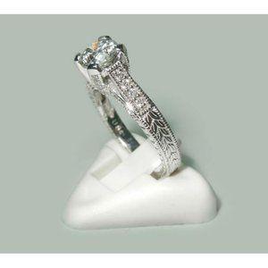 2.00 ct round brilliant diamonds solitaire with ac